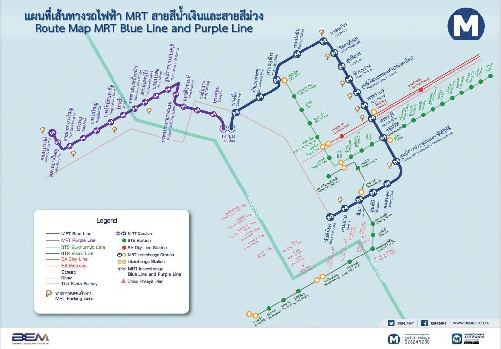 MRT Blue LIne Map Bangkok